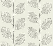 Seamless pattern from leaves. Vector Illustration Stock Photography