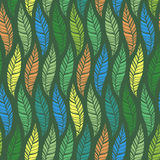 Seamless pattern of leaves 2 Stock Photos