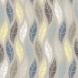 Seamless pattern of leaves 4 Royalty Free Stock Photo