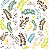 Seamless pattern of leaves Royalty Free Stock Photos