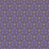 Seamless pattern with leaves and abstract flowers  Royalty Free Stock Image