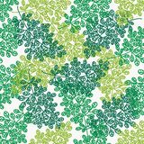 Seamless pattern with leaves. Seamless abstract texture of leaves Stock Photography