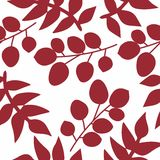 Seamless pattern with leaves. Seamless abstract texture of leaves Stock Photos