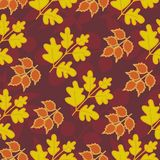 Seamless pattern with leaves. Seamless abstract texture of leaves Royalty Free Stock Image