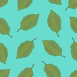 Seamless pattern with leaves, autumn colorful background royalty free illustration