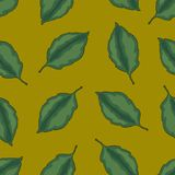 Seamless pattern with leaves, autumn colorful background stock illustration