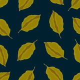 Seamless pattern with leaves, autumn colorful background vector illustration