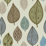 Seamless pattern with leaves. Seamless pattern with autumn leaves. Use for wallpaper, pattern fills, web page background royalty free illustration