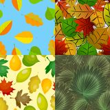 Seamless pattern with leaves background vector illustration nature design floral summer plant textile fashion tropical. Seamless pattern with leaves background royalty free illustration