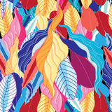 Seamless  pattern with leaves Stock Photography