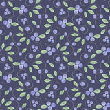 Seamless pattern with leaves and berries Royalty Free Stock Photography