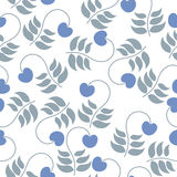 Seamless pattern leaves and berries on a white background Stock Image