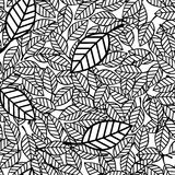 Seamless pattern leaves Stock Images
