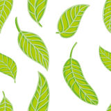 Seamless pattern with leaves. Seamless pattern with bright green leaves Royalty Free Stock Photo