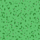 Seamless pattern of  leaves with buds Royalty Free Stock Photos