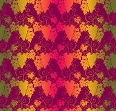 Seamless Pattern With Leaves And Bunches Of Grapes. Stock Images