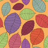 Seamless pattern of leaves Royalty Free Stock Photography