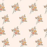 Seamless pattern with leaves Stock Photos