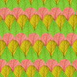 Seamless pattern of leaves of different colors Stock Photography