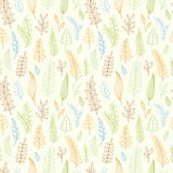 Seamless pattern with leaves. Stock Photos