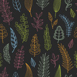 Seamless pattern with leaves. Royalty Free Stock Photography