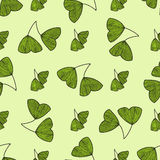 Seamless pattern with leaves of Gingko biloba Stock Photo