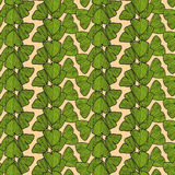 Seamless pattern with leaves of Gingko biloba Stock Photography