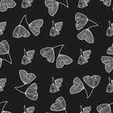 Seamless pattern with leaves of Ginkgo biloba Royalty Free Stock Images