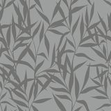 Seamless pattern with leaves on a gray background. Vector stylized branches and leaves for design Royalty Free Stock Photography