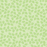 Seamless pattern with leaves on green Royalty Free Stock Photo