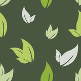 Seamless pattern leaves. Green leaves simple background, pattern royalty free stock image