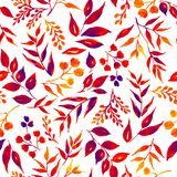 Seamless pattern of leaves, herbs, tropical plant. royalty free illustration