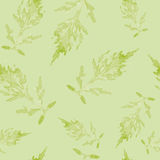 Seamless pattern with leaves. On a light background. Hand drawn texture for invitations, cards, DIY projects, web sites or for any other design Stock Photography