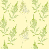 Seamless pattern with leaves. On a light background. Hand drawn texture for invitations, cards, DIY projects, web sites or for any other design Royalty Free Stock Images