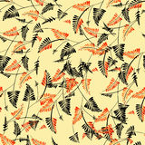 Seamless pattern with  leaves ornament Stock Photography