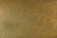 Seamless pattern of Leaves of a Palm Tree. Leaves of tropical copper gold palm tree. Seamless pattern or wallpaper background texture. Abstract floral fabric Royalty Free Stock Photo