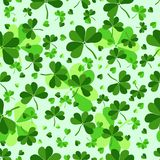 Seamless pattern leaves plants clover. Semanggi Plants is a group of Salviniales water spikes from Marsilea clan which in Indonesia is easy to find in rice Royalty Free Stock Images