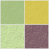 Seamless pattern leaves. Set. Stock Images