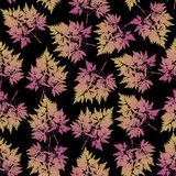 Seamless pattern with leaves and sprigs Stock Photography