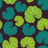 Seamless pattern on leaves theme, Autumn seamless pattern with l Stock Image