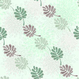 Seamless pattern on leaves theme Stock Photo