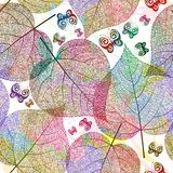 Seamless pattern with leaves. Vector, EPS10 Stock Images