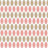 A seamless pattern with leaves. Vector illustration Stock Photo