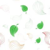 Seamless pattern with leaves Royalty Free Stock Images