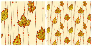 Seamless pattern with leaves Royalty Free Stock Photography