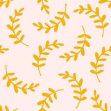 Seamless pattern leaves vector illustration