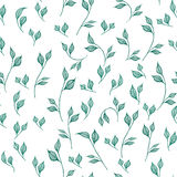 Seamless pattern with leaves. Royalty Free Stock Photo