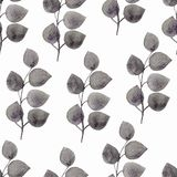 Seamless pattern with leaves on a white background. Beautiful design for wallpapers, textiles, fabrics, wrapping paper, background royalty free stock images