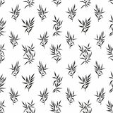 Seamless pattern with leaves on a white background. Vector stylized branches and leaves for design Royalty Free Stock Images