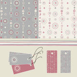 Seamless pattern -lebels Royalty Free Stock Images